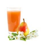 Suco com pera e flores Foto de Stock Royalty Free