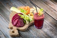 Suco da beterraba do vegetariano Imagens de Stock