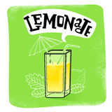 Suco da limonada isolado Imagens de Stock Royalty Free