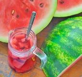 Suco da melancia Fotografia de Stock Royalty Free