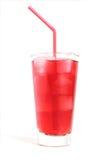 Suco de airela com gelo Imagem de Stock