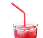 Suco de Cranbery com gelo Fotografia de Stock