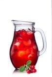 Suco de fruta da airela isolada Imagem de Stock