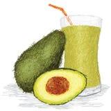 Suco de fruta do abacate Foto de Stock