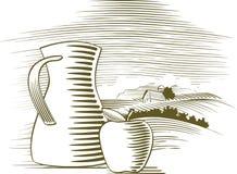 Suco de fruta do Woodcut Imagens de Stock Royalty Free