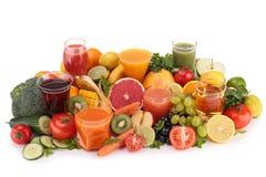 Suco de frutas e legumes Foto de Stock