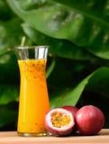 Suco de fruto da paixão isolado no fundo fotos de stock royalty free