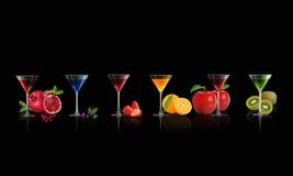 Suco de frutos ilustração stock