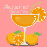 Suco de laranja do vetor Fotos de Stock Royalty Free