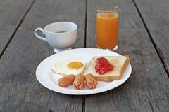 Suco de laranja e café da refeição do café da manhã foto de stock royalty free