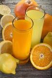 Suco de laranja e limonada fotos de stock royalty free