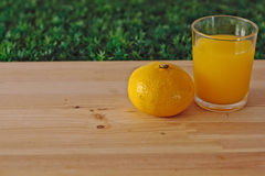 Suco de laranja e tangerina Fotos de Stock