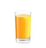Suco de laranja no vidro isolado no fundo branco Fotografia de Stock Royalty Free