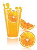 suco de laranja realístico Imagens de Stock