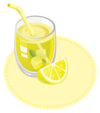 Suco de limão ilustração stock