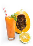Suco de papaia com laranja verde Imagem de Stock