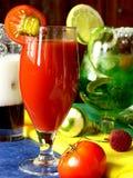 Suco de tomate Fotografia de Stock Royalty Free