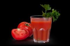 Suco de tomate. Foto de Stock