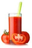 Suco de tomate com aipo Foto de Stock