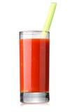 Suco de tomate com aipo Imagem de Stock