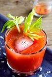 Suco de tomate com aipo Fotos de Stock