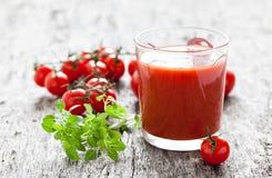 Suco de tomate fresco Fotografia de Stock Royalty Free