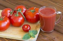 Suco de tomate fresco Imagem de Stock Royalty Free