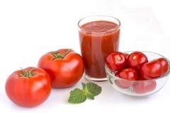 Suco de tomate fresco Fotos de Stock