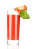 Suco de tomate fresco com manjericão Fotos de Stock