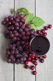 Suco de uva da airela Imagem de Stock Royalty Free