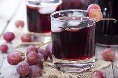 Suco de uva vermelha imagens de stock