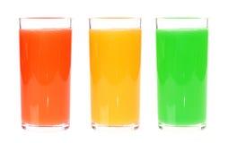 Suco de vidro cheio isolado no fundo branco Foto de Stock