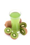 Suco do quivi e frutas de quivi Imagem de Stock