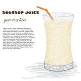 Suco do Soursop Imagens de Stock