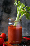 Suco do tomate e da paprika Foto de Stock Royalty Free