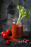 Suco do tomate e da paprika Imagem de Stock Royalty Free
