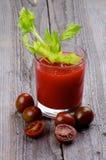 Suco do tomate e do aipo Fotografia de Stock Royalty Free
