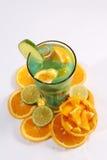 Suco do verão com frutos frescos Fotografia de Stock