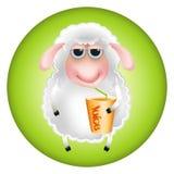 Suco do vidro dos carneiros Imagem de Stock