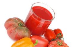 Suco dos tomates Foto de Stock
