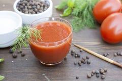 Suco dos tomates Fotos de Stock Royalty Free