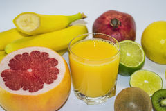 Suco e fruta Fotos de Stock