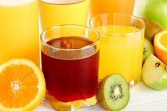 Suco e fruta foto de stock