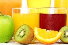 Suco e fruta imagem de stock royalty free
