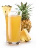 Suco e fruta de abacaxi. Fotos de Stock Royalty Free