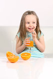 Suco fresco bebendo Imagem de Stock