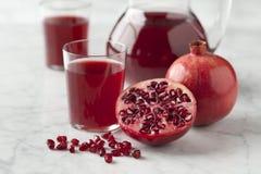 Suco fresco da romã Imagem de Stock Royalty Free