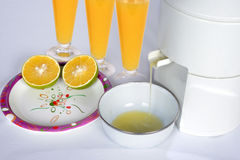 Suco fresco do mosambi com vidro Imagens de Stock