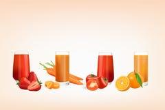 Suco fresco dos frutos ilustração stock