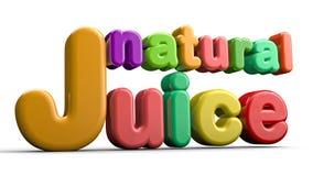 Suco natural 3D Foto de Stock Royalty Free